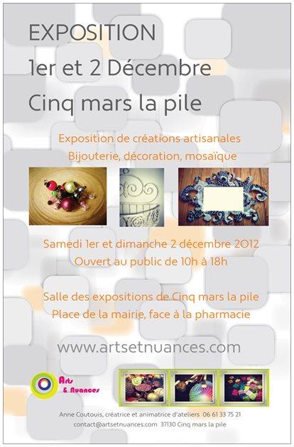 Expo Arts et Nuances Cinq Mars La Pile