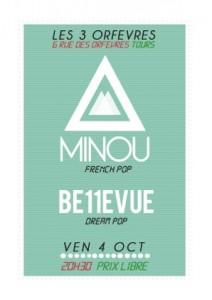 Minou + Be11vue en concert