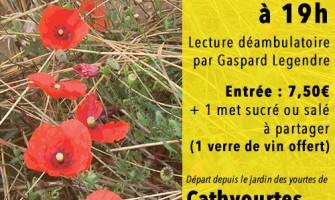 Balade littéraire dans les vignes avec Maupassant 28/07/15