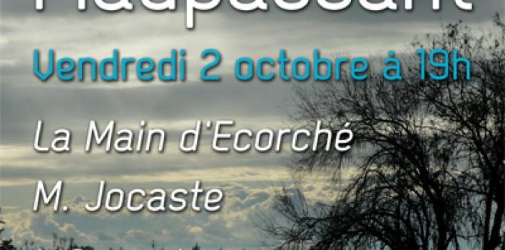 Lecture Maupassant à Luynes 2 octobre 2015