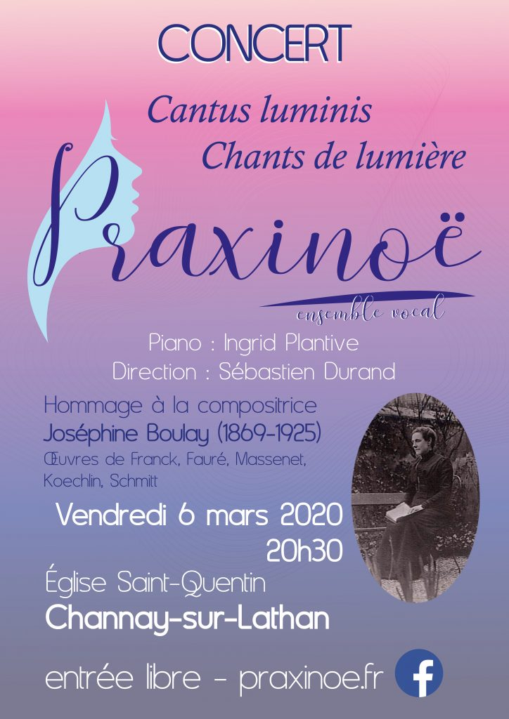 Concert Praxinoe Channay sur Lathan